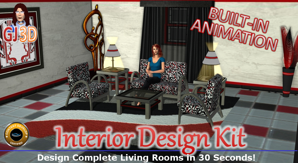 Interior Design Kit Living Rooms Iclone Set Reallusion Marketplace