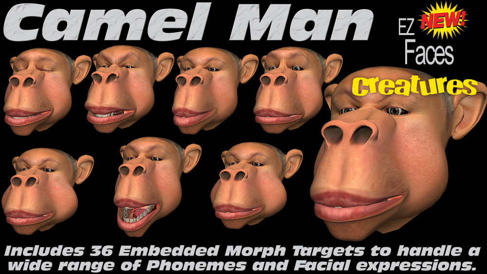 G5 EZ Faces Camel Man Creature - Reallusion Marketplace